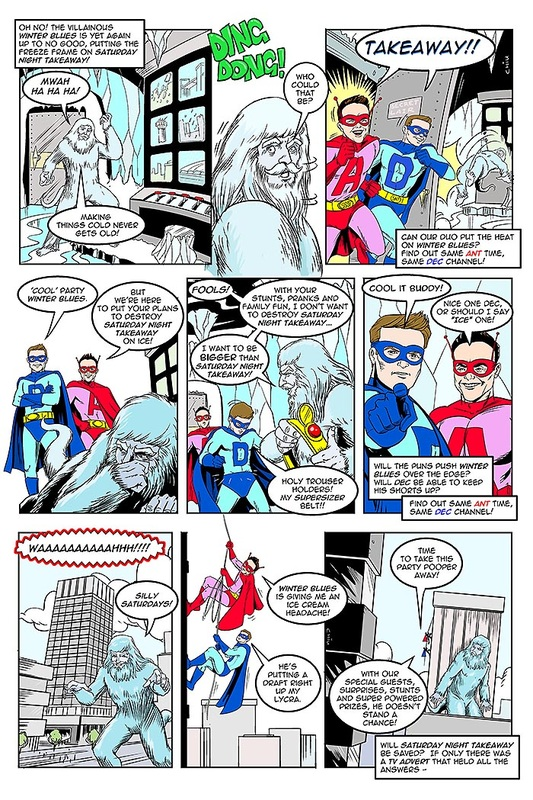 ITV Saturday Night Takeaway comic strip